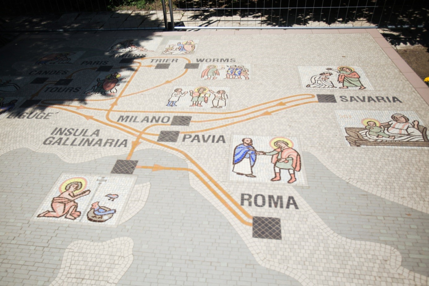 Mosaic map on the life of Martin