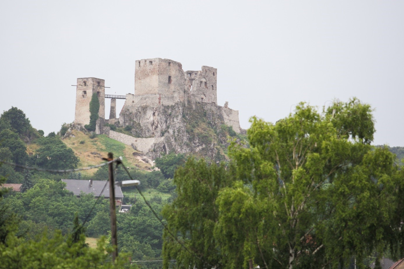 Burg von Csesznek - auf dem Marienweg mit Pannon Pilgrim