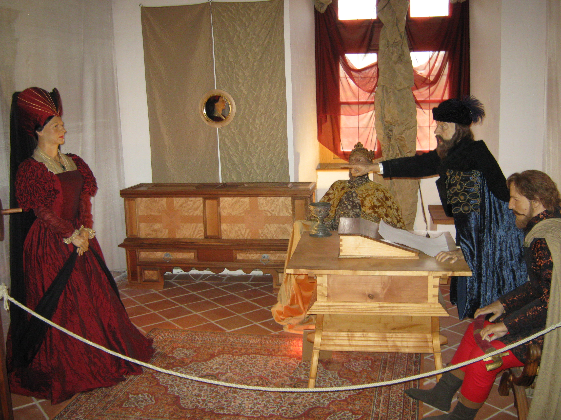 The trial of Elizabeth – waxwork in the Nyírbátor Castle
