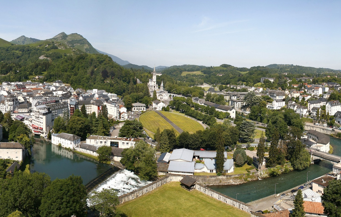 Lourdes Sanctuary from the fort